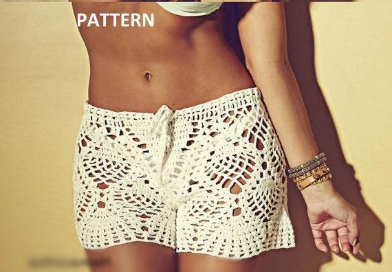 Instant Download Pdf Crochet Shorts Beach Shorts Boy Shorts