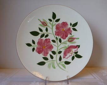 Stangl Wild Rose 10'' Plate #3929