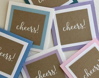 Gift Enclosure Cards, Gift Tags, Cheers