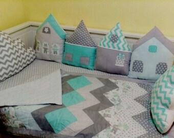 Sweet home crib bumper