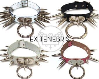 EX TENEBRIS / / Custom Made-to-Measure Spike and O-Ring Collar
