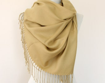 Wheat pashmina scarf pashmina shawl bridesmaids gift wedding shawl bridal wrap camel beige scarf pashmina wrap gift for her mothers day gift