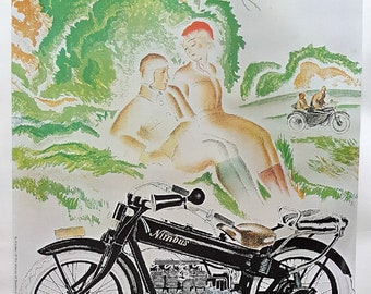 1926/1980s Nimbus Motorcycle Commercial Reproduction - Vintage Poster