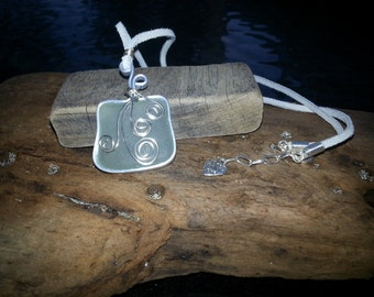 Seafoam Sea Glass with Embellishments Necklace