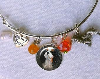 Benutzerdefinierte Hund Charm Armband ~ aus Ihren Fotos ~ Draht Armband Bettelarmband