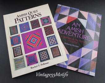 Quilting Amish Quilt Patterns Two Books