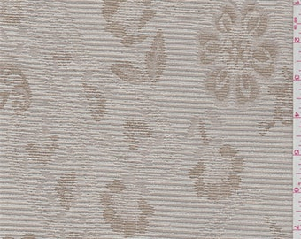Blush Beige Floral Tapestry, Fabric By The Yard