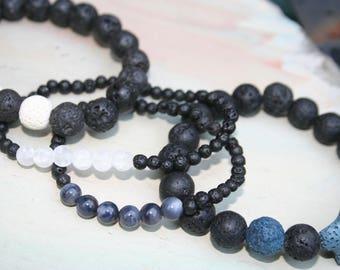 Diffuser Bracelet,  Essential Oils Bracelet, Lava Stone Bracelet, Stone Bracelet, Beaded Diffuser, Aromatherapy, Light Blue, Lava