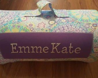 Lilac Bursts/Kinder Nap Mat/Preschool Nap Mat/ With Name/Personalized