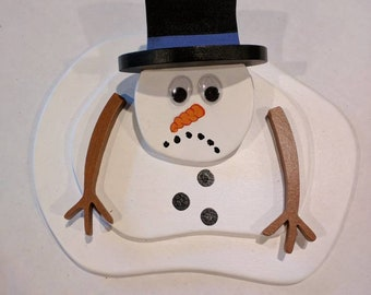 Mini Melting Snowman  (READY TO SHIP)