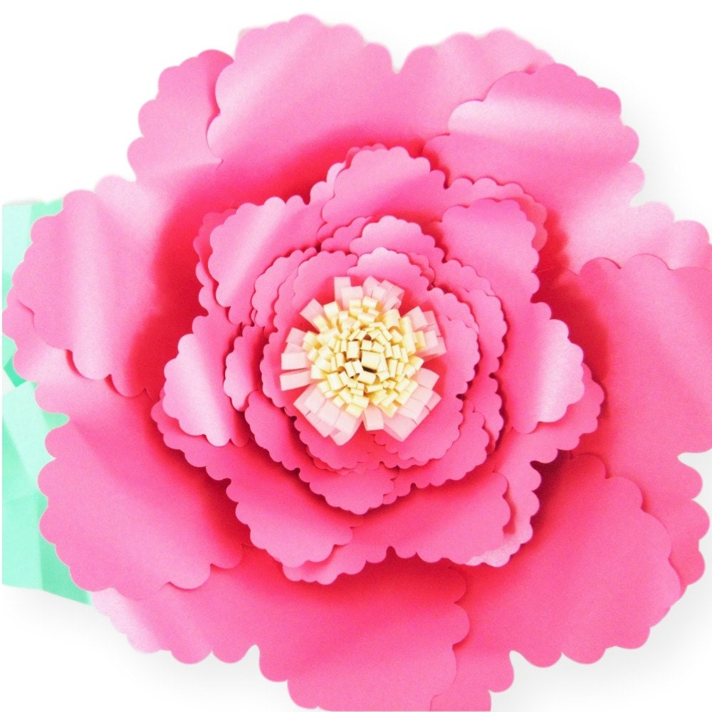 Giant Paper Flower Templates Diy Paper Flowers Svg Flower Cutting