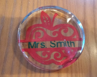 Personalized Apple Paperweight