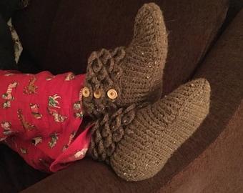 Crocodile Stitch Bootie Slippers