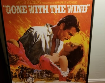 framed Gone With the Wind movie poster, 36x28
