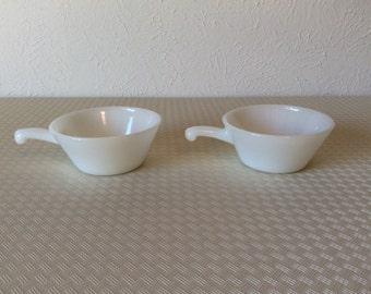 Vintage Anchor Hocking Milkglass Handled Bowls