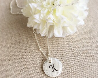 Initial Necklace . Personalized Jewelry . Satellite Chain . Personalized Initial . Name Jewelry . Engraved Initial . Gift for Friend