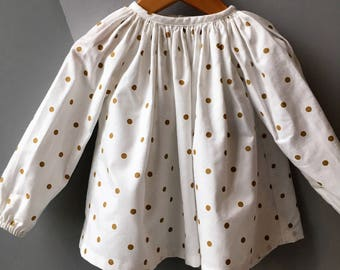 Blouse kids long sleeve cotton
