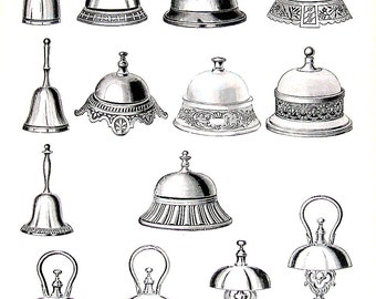 Call Bells, Cigar Boxes and Lamps - 1968 Vintage Book Print Victorian Americana Black and White 2 Sided