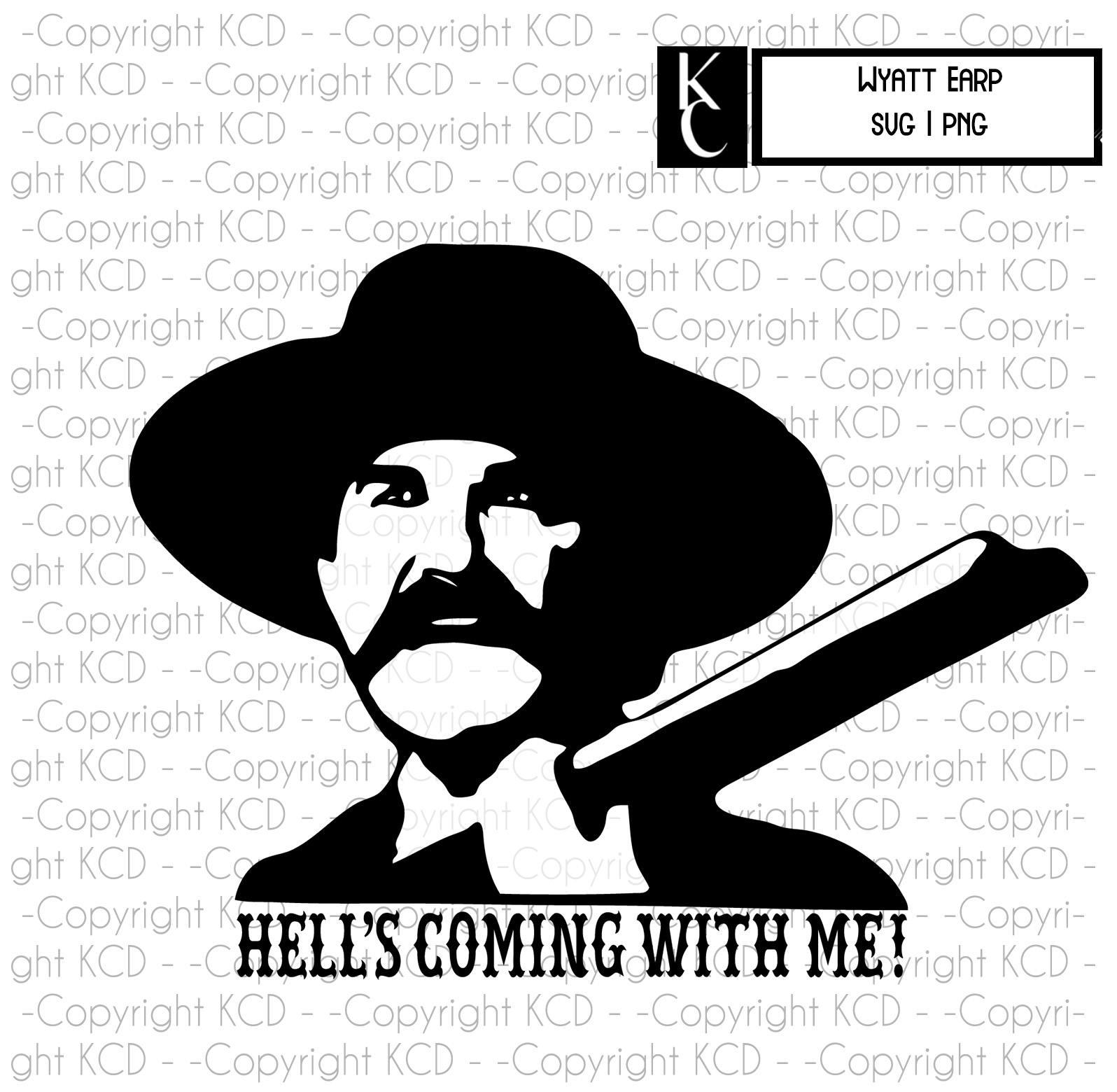 Wyatt Earp Clip Art Svg Png Cricut Layered Cut File
