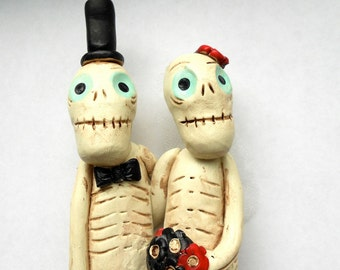 Till Death Do Us Part Skeleton Love Goth Wedding Cake Topper