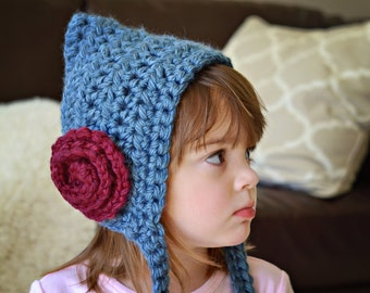 Pixie Hat with Rosette