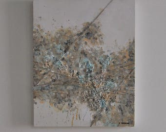 Abstract Pastel 3D Acrylic Painting
