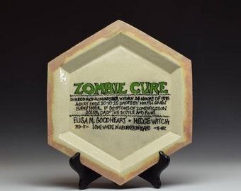 Handmade Custom Zombie Plate