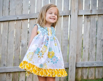 Girls Cotton Dress - Girls Ruffle Dress - Girls Summer Dress - Toddler Sundress - Boutique Girls Dresses - Birthday Dress - Back To School