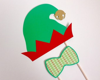 Christmas Elf Photo Booth Props . Elf Photo Booth Props . Elf . Christmas Elf . Elves . Christmas . Photo Booth . Glitter . Set of 2