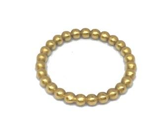 18k Beaded Ball Ring - Eternity Ring - Ball Ring - Stack Ring - Bead Stack Ring