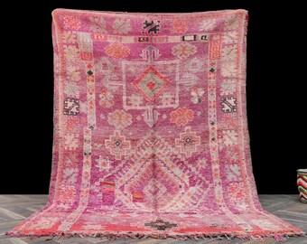 5x7 Antique Vintage Moroccan rug - Vintage Azilal Soft wool rug berber carpet Teppich alfombra tapis tappeto handmade morocco rugs Boho rug