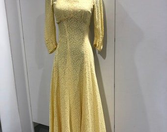 1940s lace gown