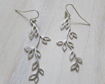 Earrings fall leaves