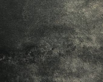 """Black -2 CM Short Pile Winter Rabbit Faux Fur  59""""Fabric by the Yard- Style 5044"""