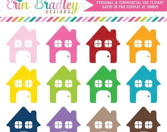 80% OFF SALE House Clipart Graphics Instant Download Commercial Use Home Clip Art