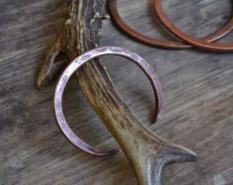 Women copper bracelet, solid copper bracelet, simple copper bracelet, hammered copper bracelet, copper jewelry, women's copper bracelet