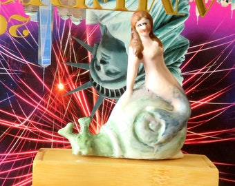 Bisque Mermaid Figurine for your aquarium