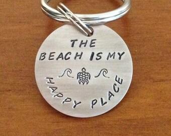 Turtle keychain, beach keyring, coastal keychain, sea turtle gift, unique keychain, cool keychain,