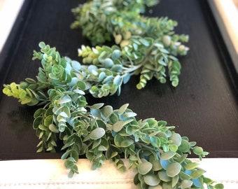 Eucalyptus Garland, Artificial Eucalyptus Garland, Wedding Centerpiece, Eucalyptus Swag, Greenery Garland, Table Runner, Succulent, Weddi