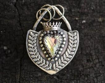 Swarovski Crystal Heart Pendant