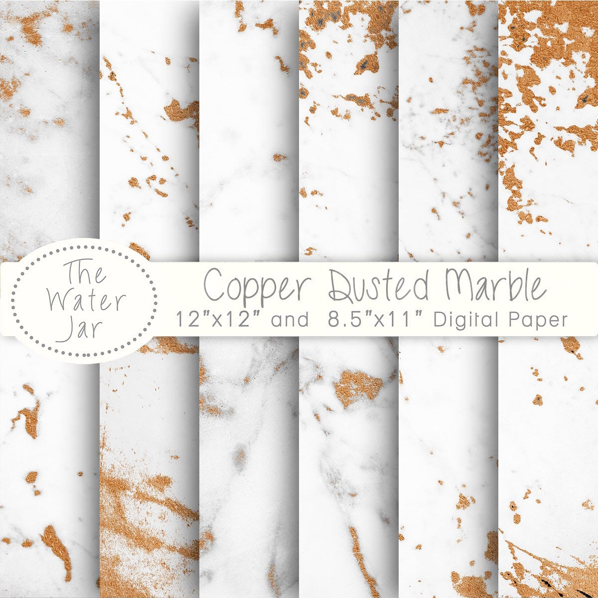 copper marble digital paper white marble dusted with copper. Black Bedroom Furniture Sets. Home Design Ideas