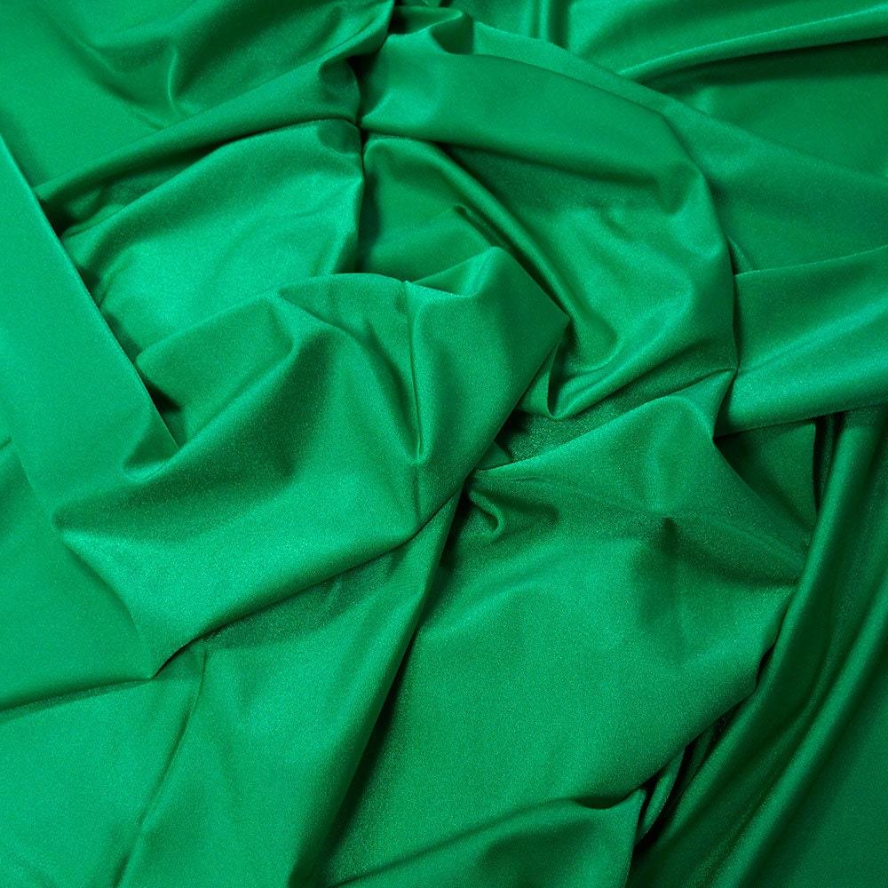 Danse De Tissu Vert Meraude Lustre Lycra Porter Latine Salle
