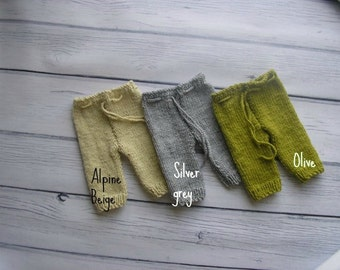 15% off SALE   Newborn photo prop, newborn pants, knit newborn pants, newborn boy, newborn props, newborn photography prop Choose your color