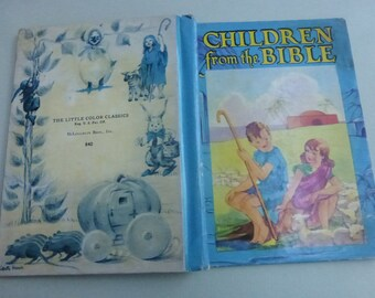 Vintage McLoughlin Bros Little Color Classics Children from the Bible Illustrated by Priscilla Pointer