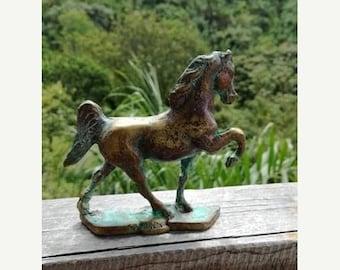 ON SALE Horse sculpture, Bronze, Metal art, reclaimed bronze, sculpture, art, stallion