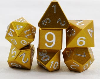 Mini Zucati EleMetal Aluminum Dice - Sunshine Yellow