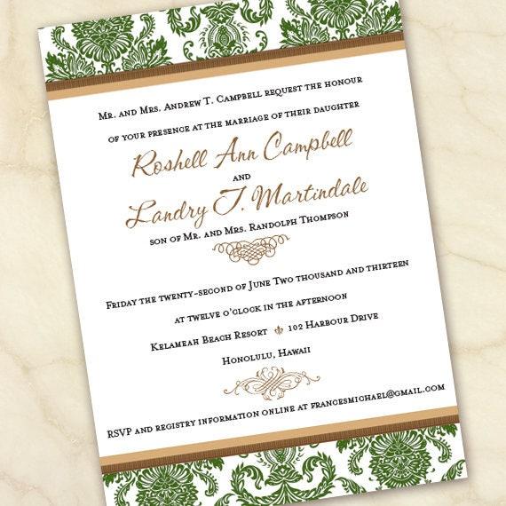 wedding invitations, wedding invitations with rsvp, wedding package, moss wedding invitations, wedding insert cards, IN641