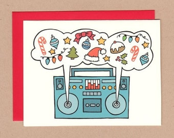 Holiday Boombox Card