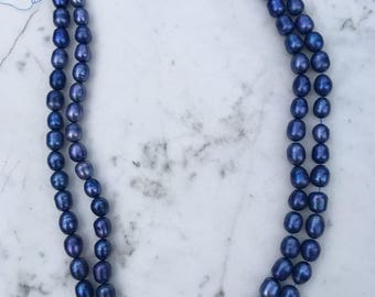 Iridescent Violet Blue Baroque Freshwater Pearls 10mm