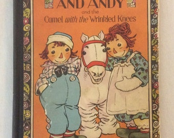 Vintage Raggedy Ann And Andy Stories Children's Book Johnny Gruelle Hardcover 1924